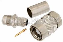 Coaxial connector / rectangular / crimp / subminiature