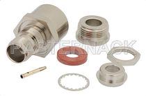 RF connector / coaxial / TNC / rectangular