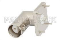 BNC connector / twinaxial / elbow / jack