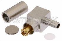 Coaxial connector / rectangular / crimp / RF