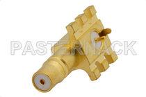 Board connector / coaxial / elbow / rapid