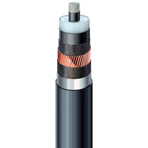 Power cable / flame-retardant / with copper screen / multi-strand