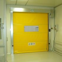 Roll-up doors / galvanized steel / PVC / indoor