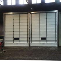Fold-up doors / stainless steel / industrial / indoor