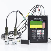 Balancing vibration analyzer / dual-channel / tachometer