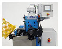 Horizontal strapping machine / for cardboard boxes / flat sheet metal / automatic