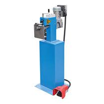 Manual flanging machine / motorized / for sheet metal