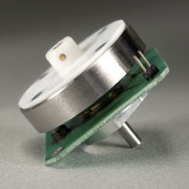 Rotary piezoelectric motor / with built-in electronics