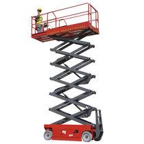 Mobile scissor lift / indoor/outdoor / electric / hydraulic