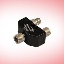 RF connector / DIN / parallel / T