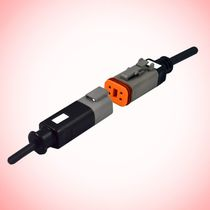 Connector for automotive applications / data / DIN / overmolded