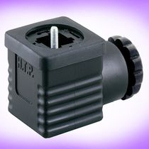 Solenoid valve connector / electrical power supply / DIN / square