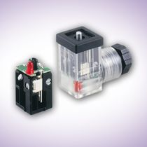 Solenoid valve connector / electrical power supply / DIN / rectangular