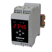 DIN rail mount temperature transmitter / analog / programmable