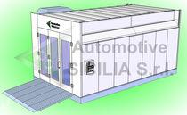Pressure powder coating booth