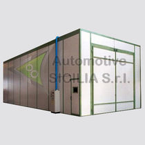 Suction blast cabinet / automatic