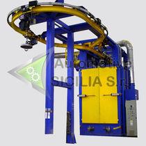 Suspended load shot blasting machine / for metal