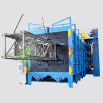 Overhead conveyor shot blasting machine / for metal / continuous