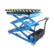 Scissor lift table / hydraulic / mobile
