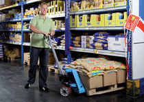 Hand pallet truck / walk-behind / quick-lift / multifunction