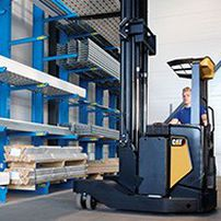 Electric reach truck / side-facing seated / handling / multi-directional