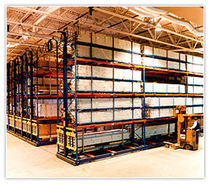 Storage warehouse shelving / for heavy loads / archival / mobile