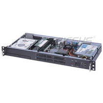 "19"" rack-mount chassis / 1U / 2 drive bays / video recording"