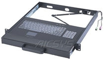 Rack drawer keyboard / panel-mount / 106-keys / with touchpad