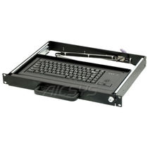 Rack drawer keyboard / panel-mount / 84-key / with trackball