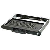 Rack drawer keyboard / panel-mount / 84-key / with trackball