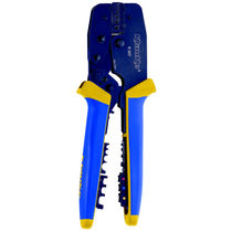 Manual crimping tool / with interchangeable dies