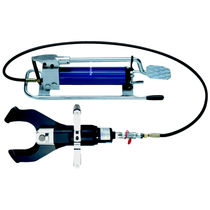 Hydraulic cable cutter / sash / with foot pump