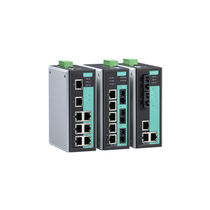 Managed ethernet switch / 8 ports / DIN rail / industrial