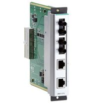 Managed network switch / industrial / fiber optic / 4-port