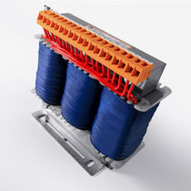 Power auto-transformer / cast resin / vacuum impregnation / floor-standing