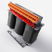 Power auto-transformer / cast resin / vacuum impregnation / floor-standing