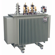 Distribution transformer / immersed / hermetically-sealed / compact