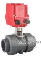 "2-way electric plastic ball valve 1/2"" - 4"", 16 bar 