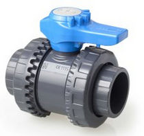 2-way plastic ball valve DN 15 - 50 | VEE-PVC-U series FIP - Formatura Iniezione Polimeri