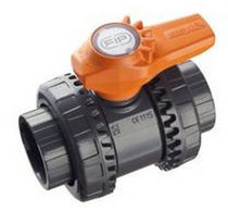 2-way plastic ball valve DN 10 - 50 | VXE-PVC-U series FIP - Formatura Iniezione Polimeri