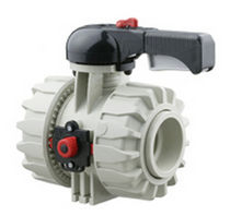 2-way plastic ball valve DN 75 - 110, max. 10 bar | VKD PP-H series FIP - Formatura Iniezione Polimeri