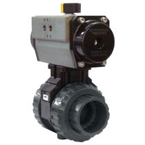 2-way pneumatically actuated plastic ball valve  Cepex SER