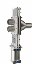 2-way valve for bulk material handling 50mm - 125mm, CE, ATEX, FDA Vortex Valves