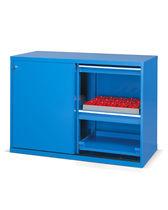 Storage cabinet / free-standing / shelf / sliding door