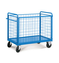 Transport cart / wire mesh platform / multipurpose / with swivel casters