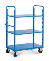 Transport cart / shelf / multipurpose / with swivel casters