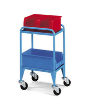 Transport cart / shelf / container / with swivel casters