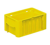 Polypropylene crate / storage / with handle / stacking
