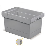 Stackable container / polypropylene / transport / with lid