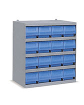 Closed-end shelving / bin / compact